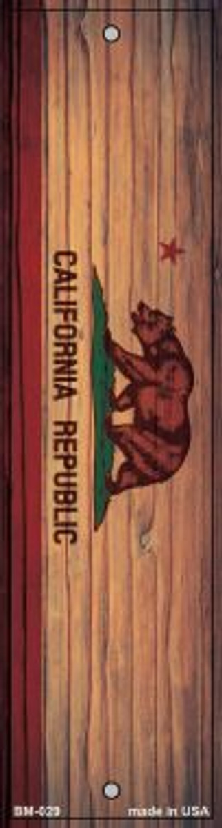 California Flag Novelty Metal Bookmark BM-029