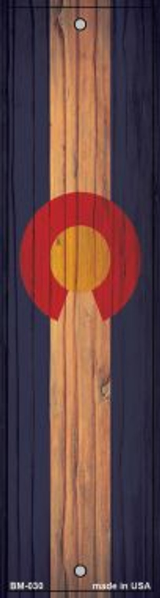 Colorado Flag Novelty Metal Bookmark BM-030