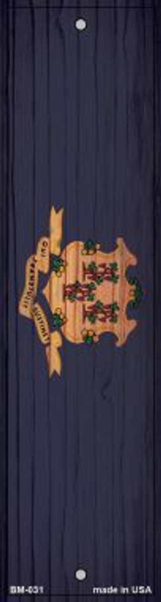 Connecticut Flag Novelty Metal Bookmark BM-031