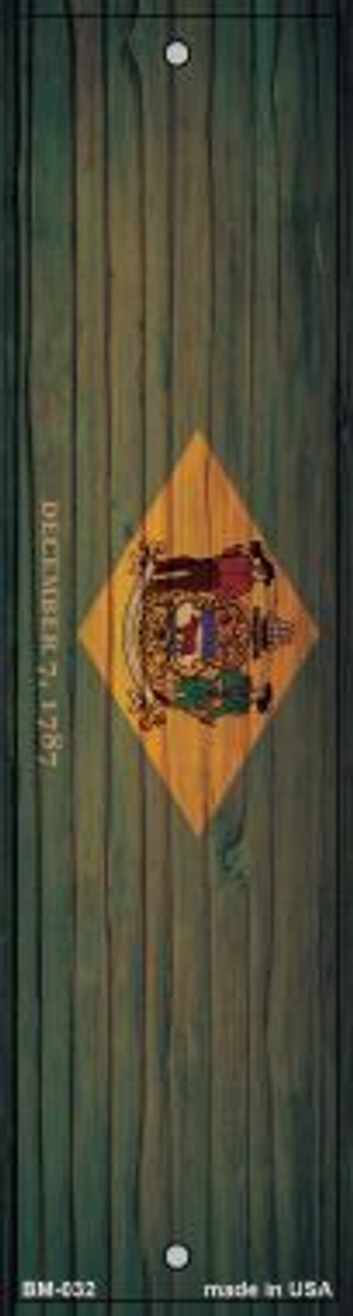 Delaware Flag Novelty Metal Bookmark BM-032