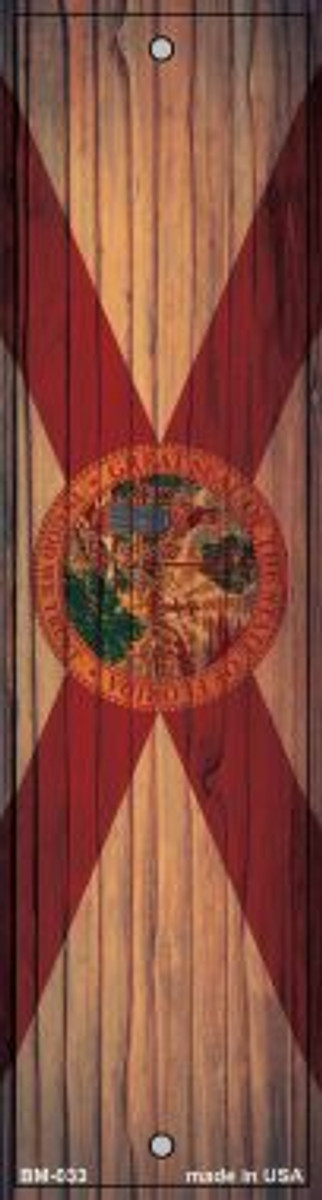 Florida Flag Novelty Metal Bookmark BM-033