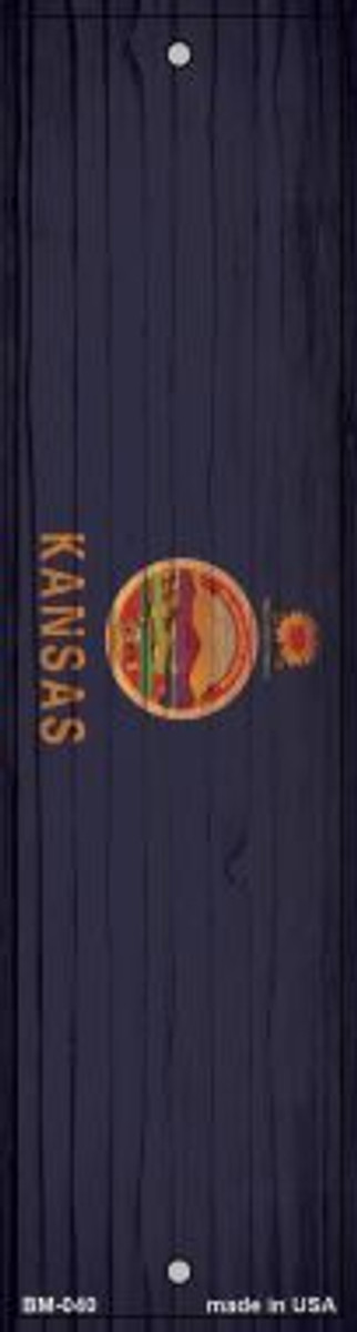 Kansas Flag Novelty Metal Bookmark BM-040