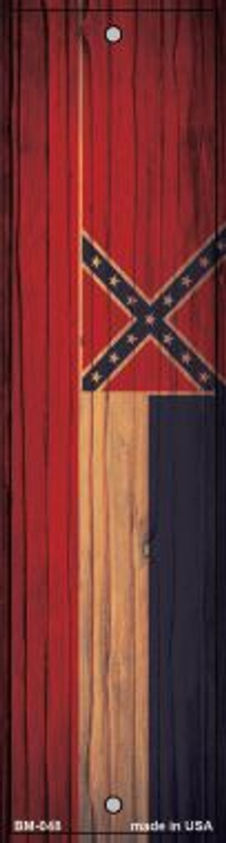 Mississippi Flag Novelty Metal Bookmark BM-048