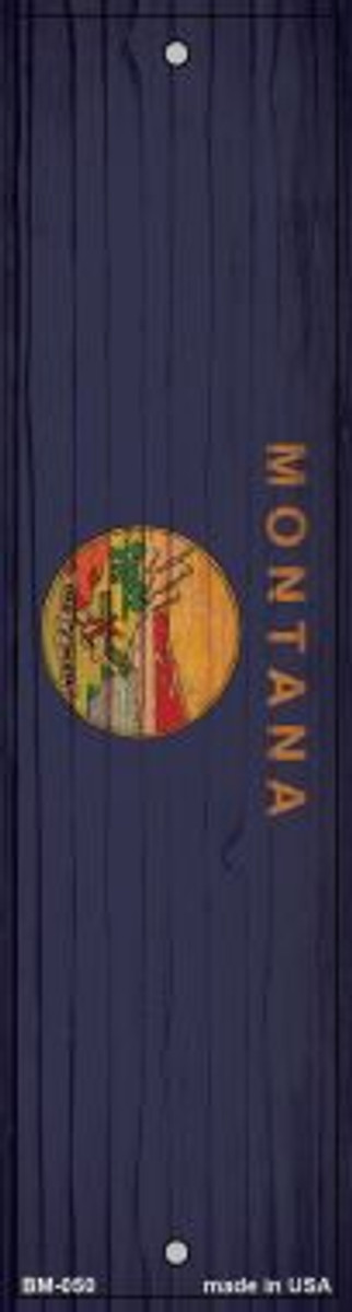 Montana Flag Novelty Metal Bookmark BM-050