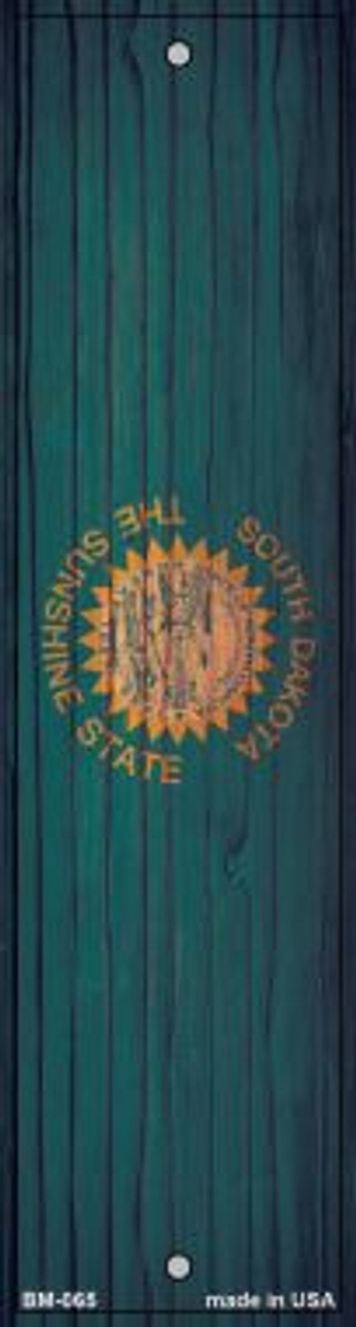 South Dakota Flag Novelty Metal Bookmark BM-065