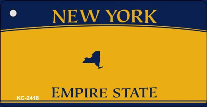 New York State Blank Novelty Metal Key Chain KC-2418