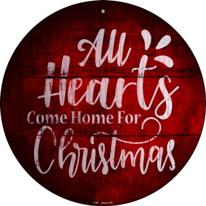 Come Home For Christmas Novelty Metal Circular Sign C-987
