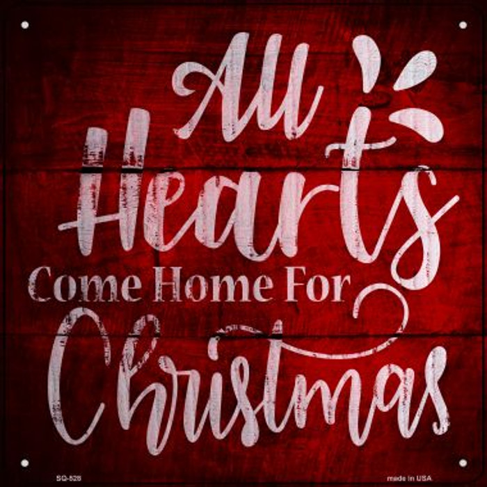 Come Home For Christmas Novelty Metal Square Sign SQ-528