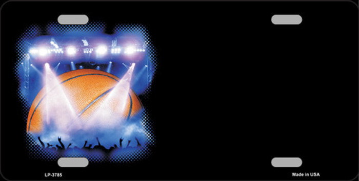 Basketball Game Offset Metal Novelty License Plate