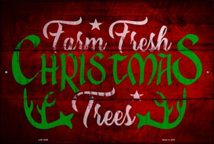 Farm Fresh Trees Novelty Metal Large Parking Sign LGP-2488