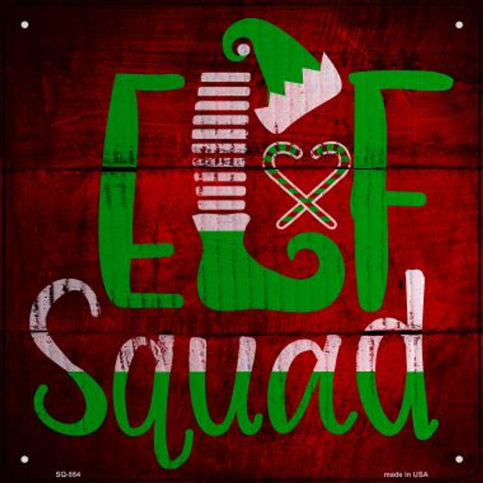 Elf Squad Novelty Metal Square Sign SQ-554