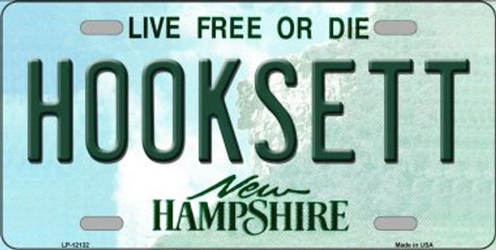 Hooksett New Hampshire Novelty Metal License Plate LP-12132