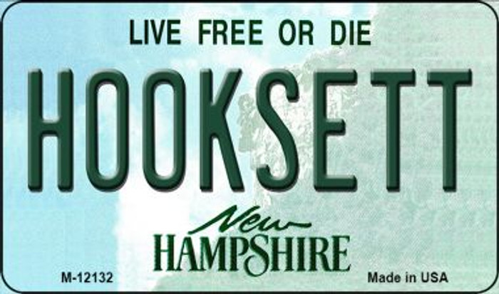 Hooksett New Hampshire Novelty Metal Magnet M-12132