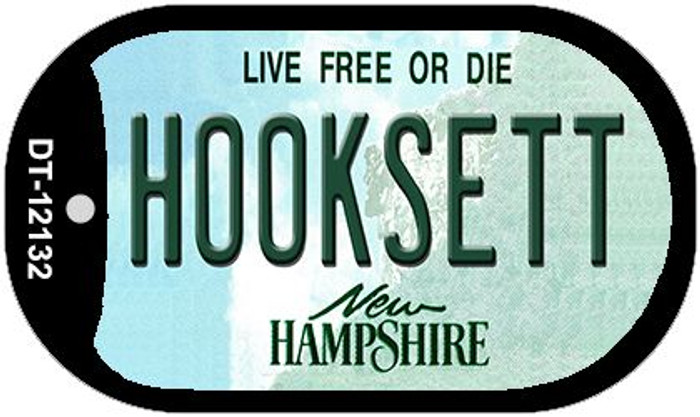 Hooksett New Hampshire Novelty Metal Dog Tag Necklace DT-12132