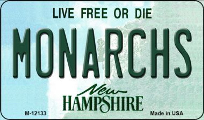 Monarchs New Hampshire Novelty Metal Magnet M-12133