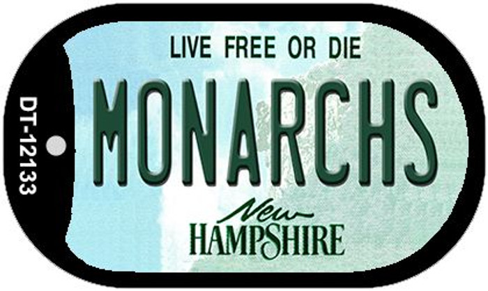 Monarchs New Hampshire Novelty Metal Dog Tag Necklace DT-12133