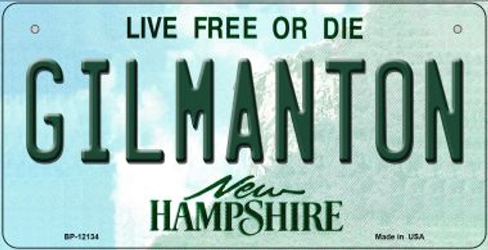 Gilmanton New Hampshire Novelty Metal Bicycle Plate BP-12134