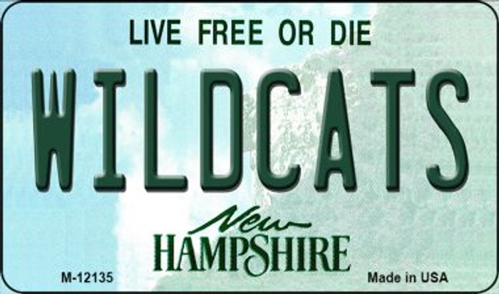 Wildcats New Hampshire Novelty Metal Magnet M-12135