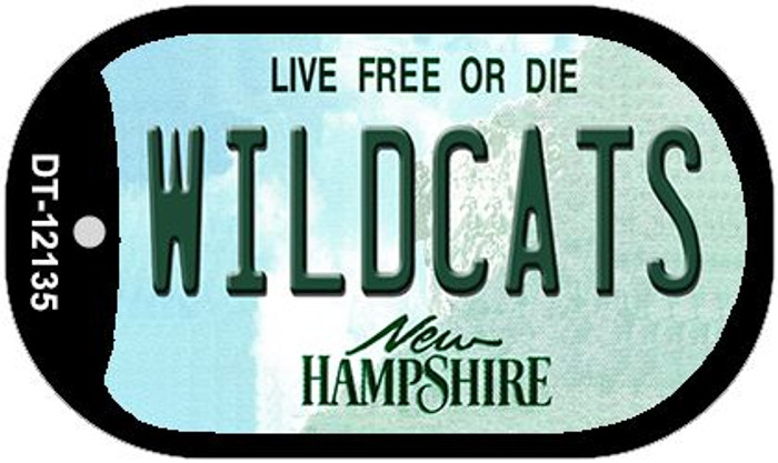 Wildcats New Hampshire Novelty Metal Dog Tag Necklace DT-12135