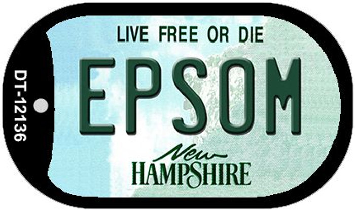 Epsom New Hampshire Novelty Metal Dog Tag Necklace DT-12136