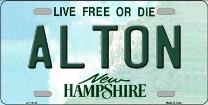 Alton New Hampshire Novelty Metal License Plate LP-12137