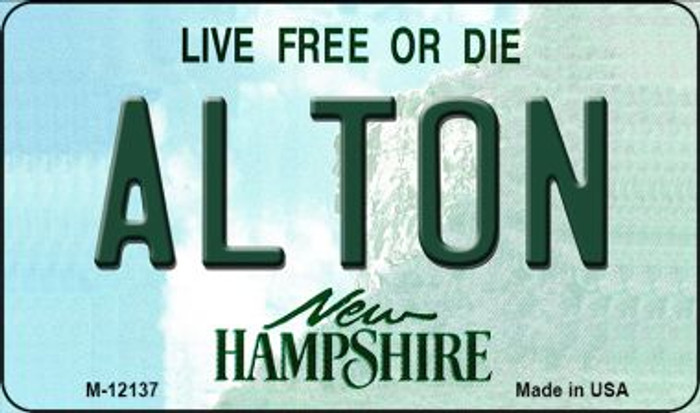 Alton New Hampshire Novelty Metal Magnet M-12137