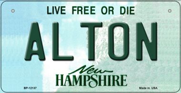 Alton New Hampshire Novelty Metal Bicycle Plate BP-12137