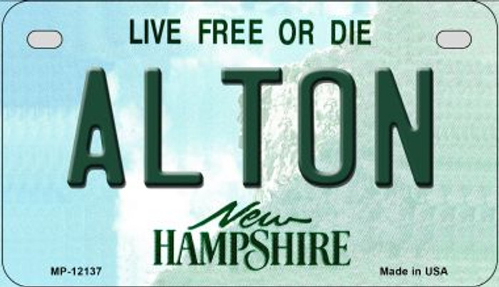 Alton New Hampshire Novelty Metal Motorcycle Plate MP-12137