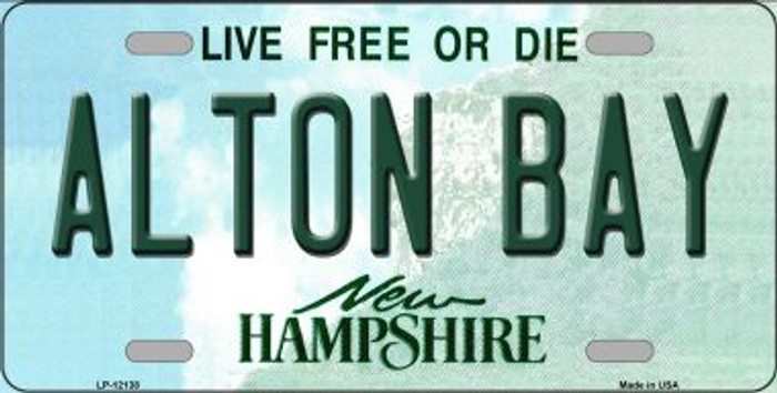Alton Bay New Hampshire Novelty Metal License Plate LP-12138