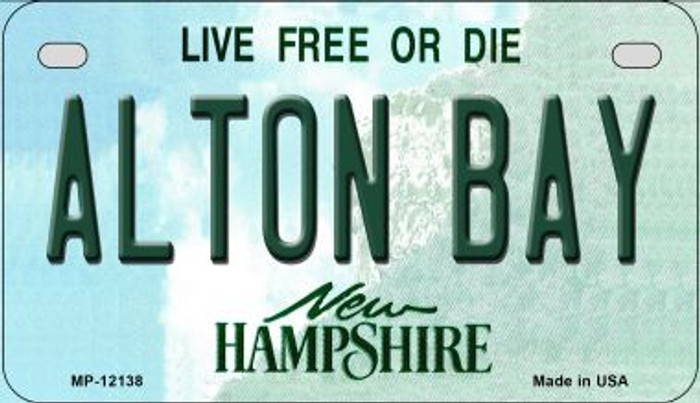 Alton Bay New Hampshire Novelty Metal Motorcycle Plate MP-12138