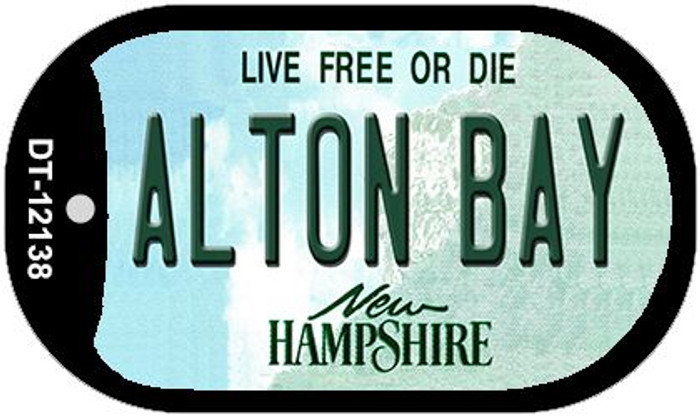 Alton Bay New Hampshire Novelty Metal Dog Tag Necklace DT-12138