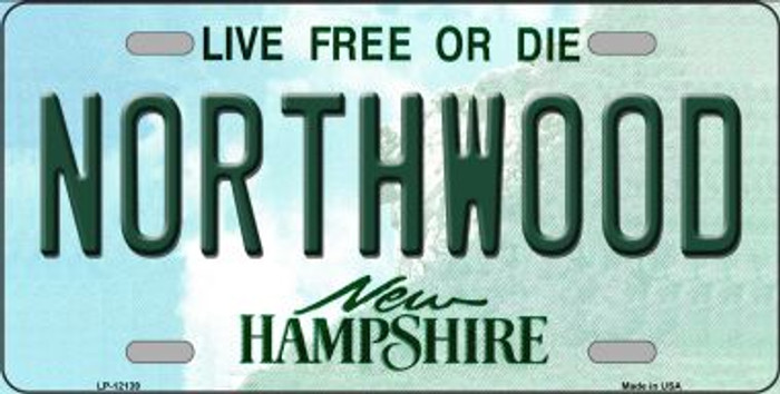 Northwood New Hampshire Novelty Metal License Plate LP-12139