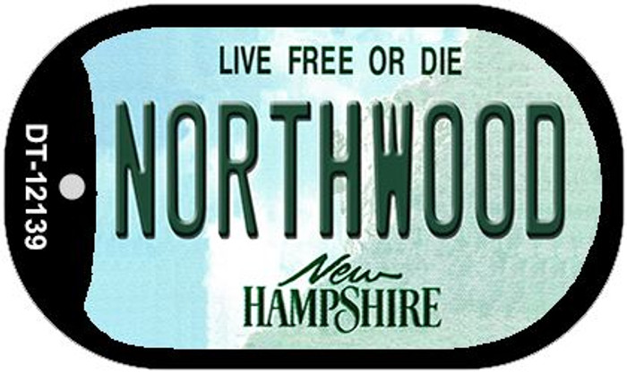 Northwood New Hampshire Novelty Metal Dog Tag Necklace DT-12139