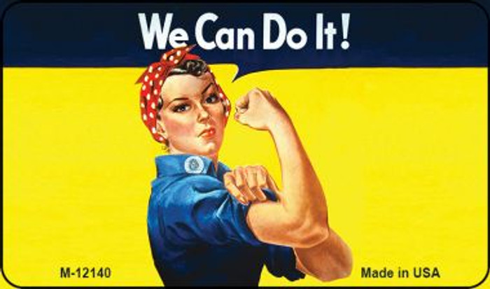 We Can Do It Novelty Metal Magnet M-12140