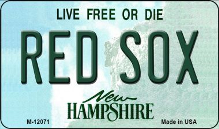 Red Sox New Hampshire State Novelty Metal Magnet M-12071