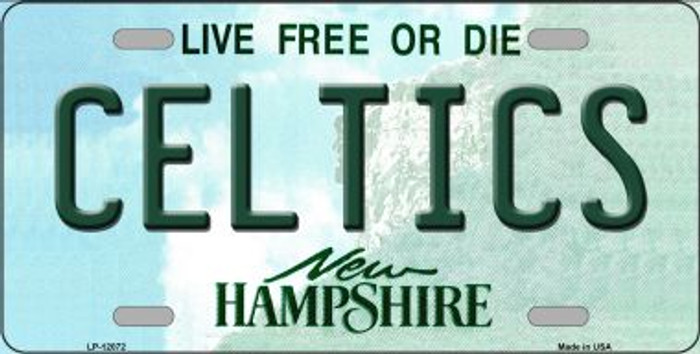 Celtics New Hampshire State Novelty Metal License Plate LP-12072