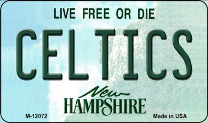 Celtics New Hampshire State Novelty Metal Magnet M-12072
