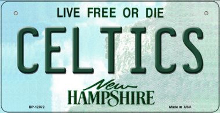 Celtics New Hampshire State Novelty Metal Bicycle Plate BP-12072