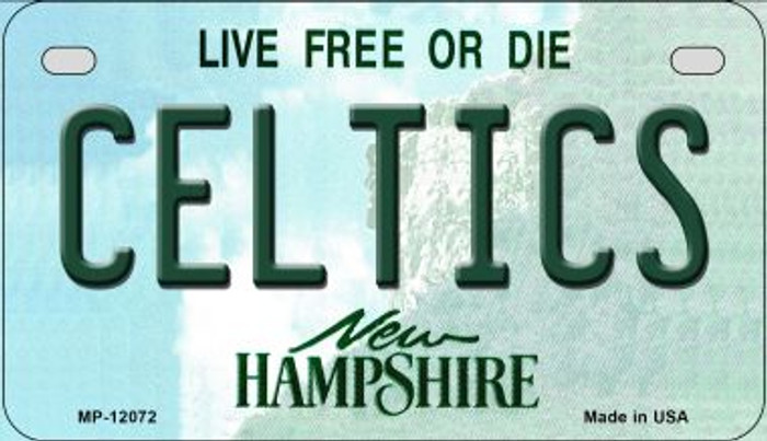 Celtics New Hampshire State Novelty Metal Motorcycle Plate MP-12072