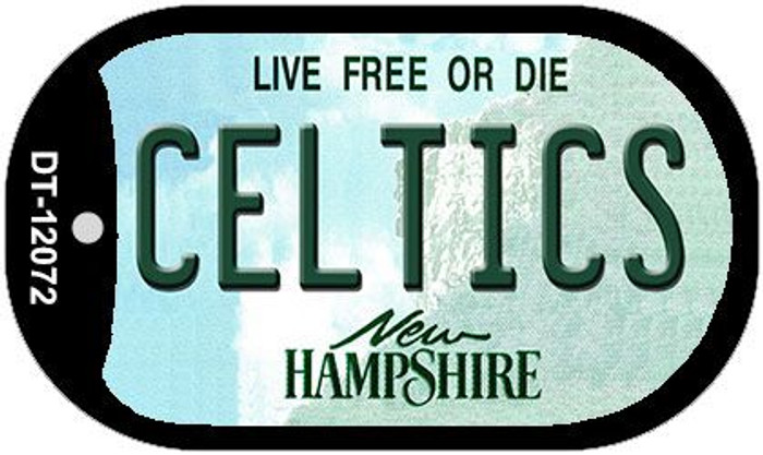 Celtics New Hampshire State Novelty Metal Dog Tag Necklace DT-12072