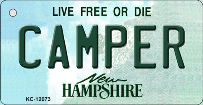 Camper New Hampshire State Novelty Metal Key Chain KC-12073