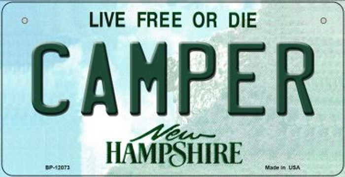 Camper New Hampshire State Novelty Metal Bicycle Plate BP-12073
