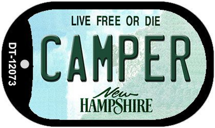Camper New Hampshire State Novelty Metal Dog Tag Necklace DT-12073