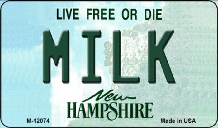 Milk New Hampshire State Novelty Metal Magnet M-12074