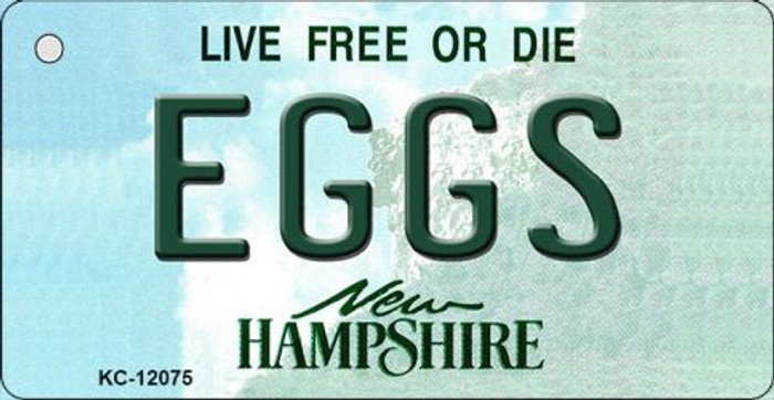 Eggs New Hampshire State Novelty Metal Key Chain KC-12075