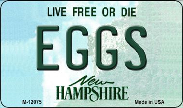 Eggs New Hampshire State Novelty Metal Magnet M-12075