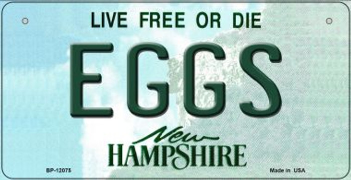 Eggs New Hampshire State Novelty Metal Bicycle Plate BP-12075