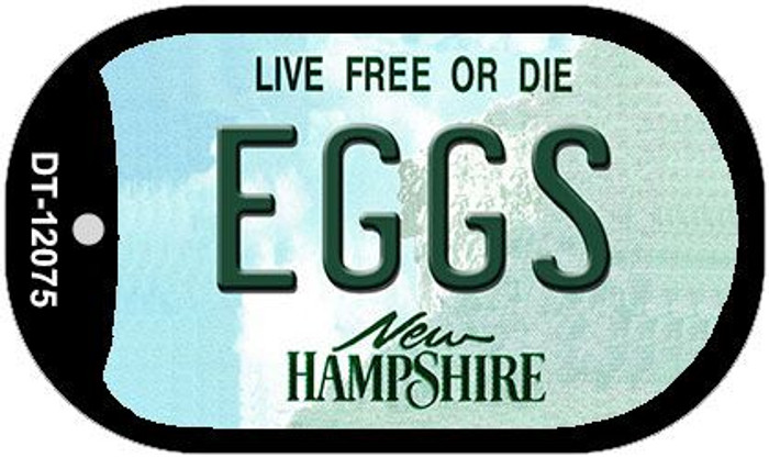 Eggs New Hampshire State Novelty Metal Dog Tag Necklace DT-12075
