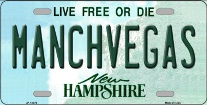 Manchvegas New Hampshire State Novelty Metal License Plate LP-12076
