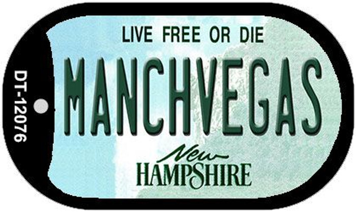 Manchvegas New Hampshire State Novelty Metal Dog Tag Necklace DT-12076